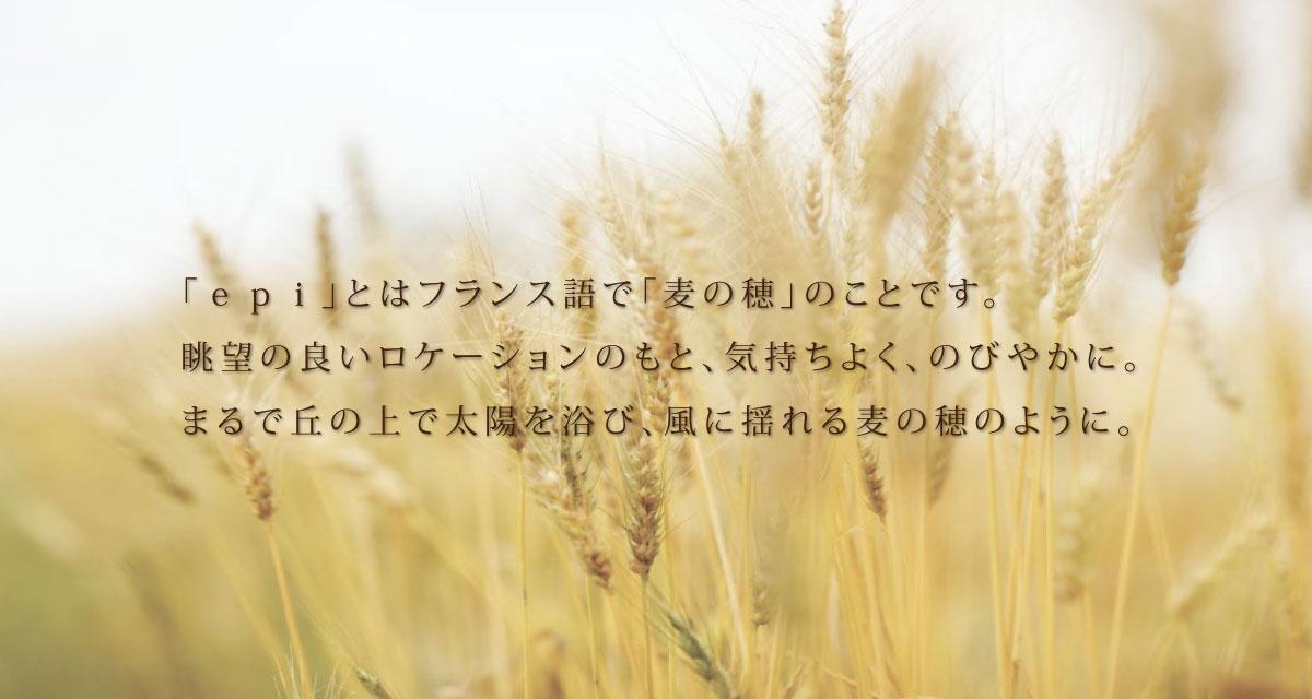 「epi」とはフランス語で「麦の穂」「epi」とはフランス語で「麦の穂」のことです。のことです。