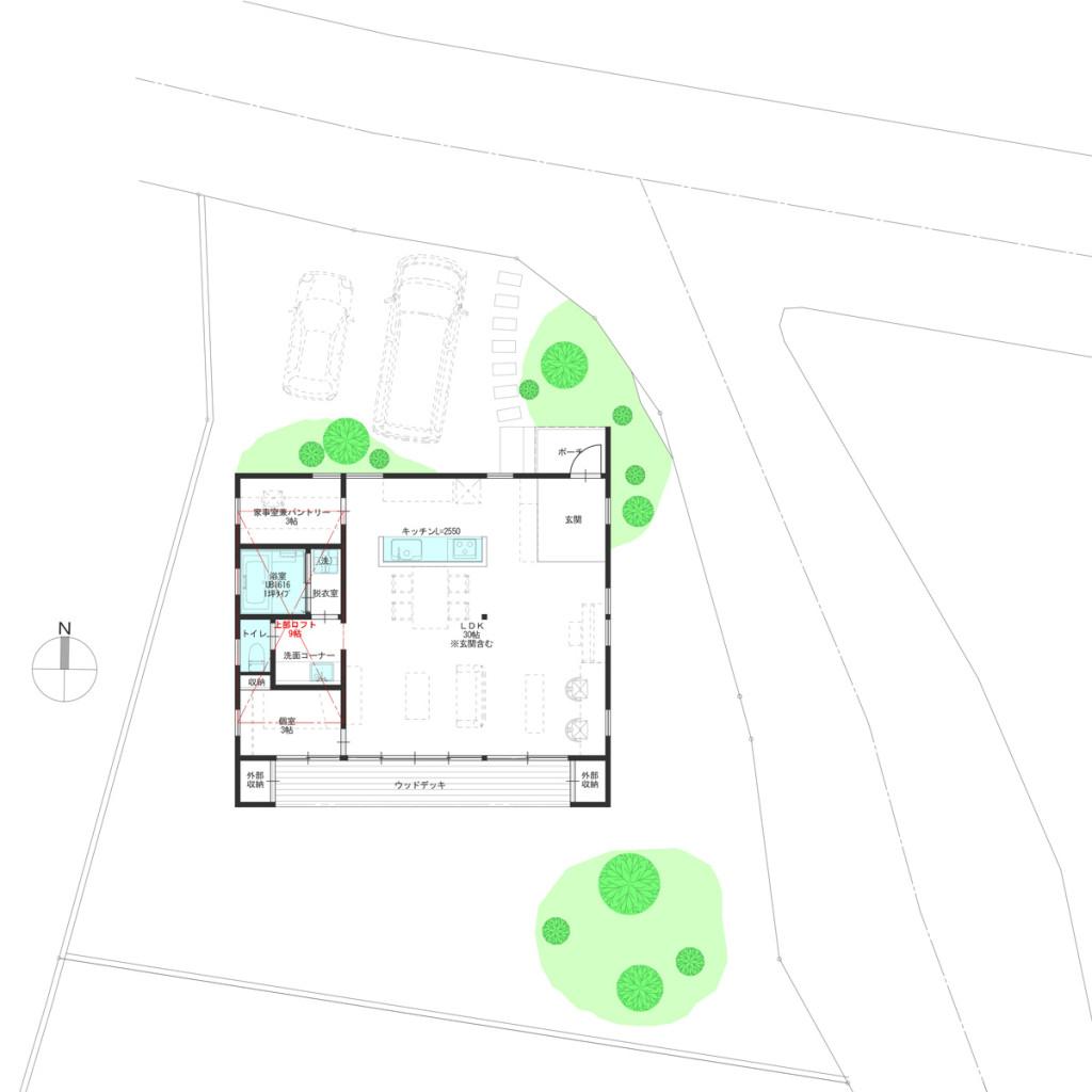 建築条件付土地にENHOUSEが建設された時のイメージです