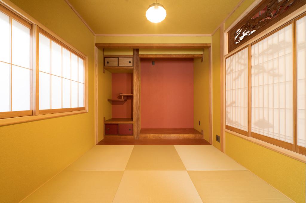 琉球畳の和室4.5帖(内装)