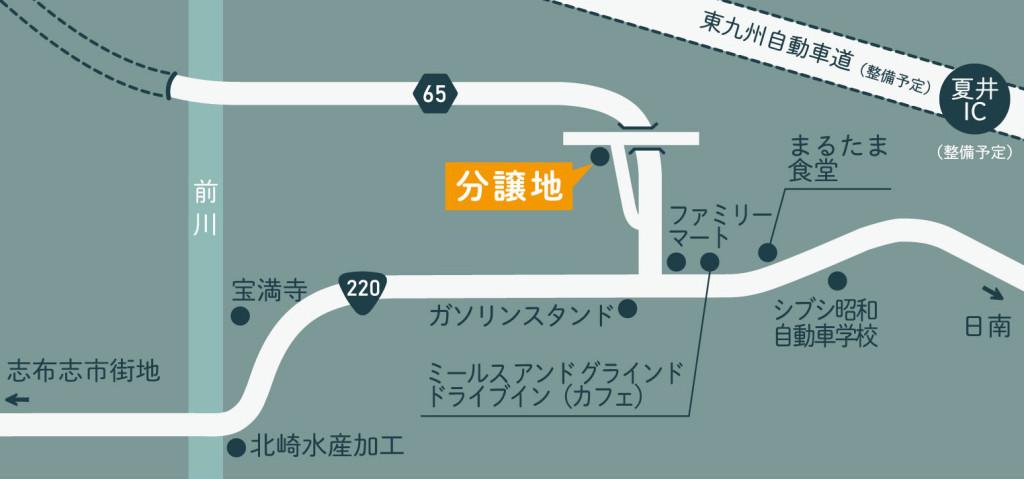 分譲地と周辺地図(地図)